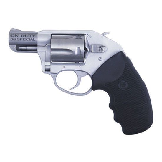 Charter Arms 53810 Undercover On Duty Revolver Single Double 38 Special 2 5 Rd Black Rubber Grip Stainless in.