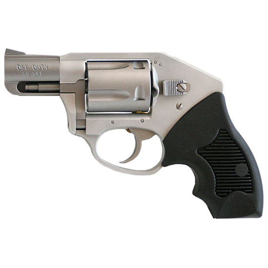Charter Arms 53811 Off Duty  Revolver Double 38 Special 2 5 Rd Black Rubber Grip Stainless in.