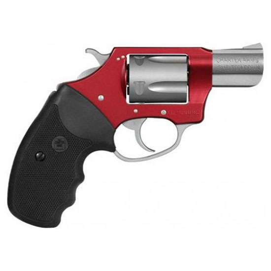 Charter Arms 53823 Undercover Lite Standard Revolver Single Double 38 Special 2 5 Rd Black Rubber Grip Stainless Red Frame in.