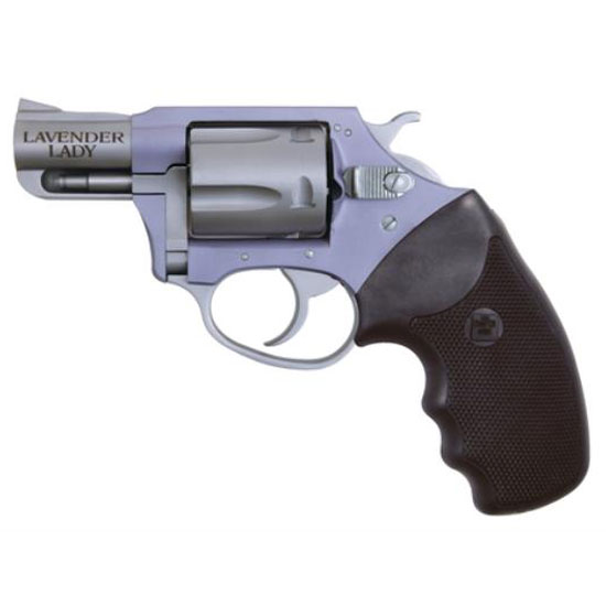 Charter Arms 53840 Undercover Lite Lavender Lady Revolver Single Double 38 Special 2 5 Rd Black Synthetic Grip Stainless in.