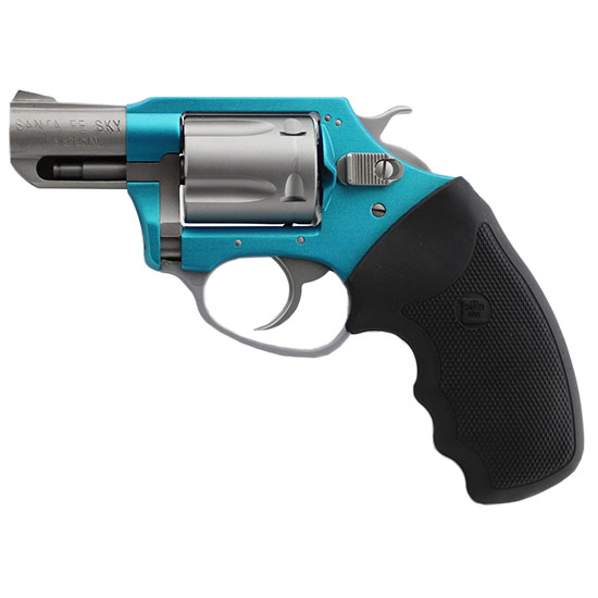 Charter Arms 53860 Undercover Lite Santa Fe Revolver Single Double 38 Special 2 5 Rd Black Synthetic Grip Stainless Barrel Turquoise Aluminum Frame in.