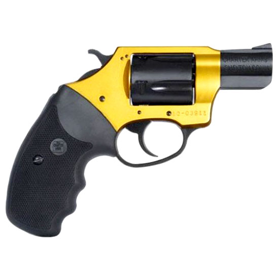 Charter Arms 53890 Undercover Lite Goldfinger Single Double 38 Special 2 5 Black Rubber Grip Gold Black in.