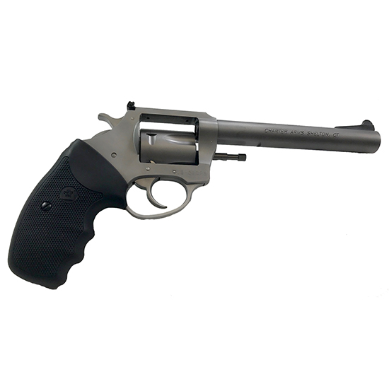 Charter Arms 73560 Mag Pug Target 357 Mag 5 Round 6in. Stainless Steel Black Rubber Grip