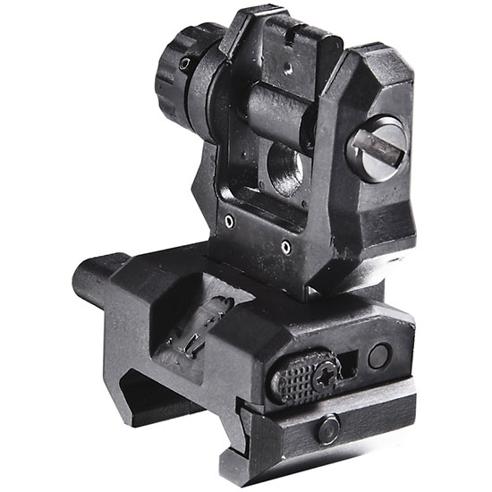 Command Arms FRS Low Profile Rear Flip Up Sight Aluminum|Polymer Black