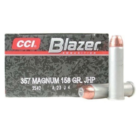 CCI Ammunition Speer Gold Dot HP 158 Grain Nickel Plated Brass .357 Mag 20Rds
