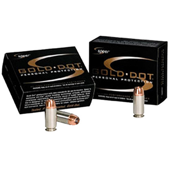 CCI Ammunition Speer Gold Dot 45ACP 185GR HP 20rds