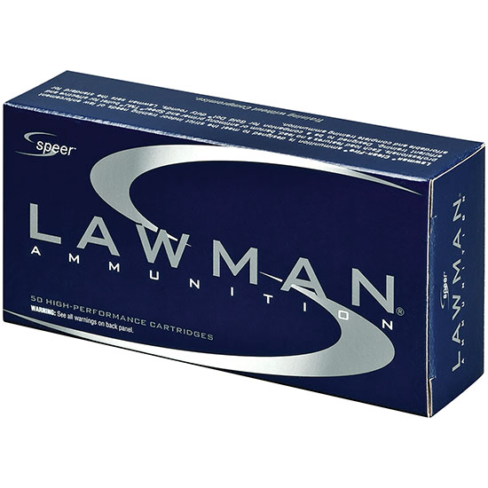 Speer Ammo 53880 Lawman Clean Fire 40 Smith & Wesson (S&W) 180 GR Total Metal Jacket 50 Bx| 20 Cs