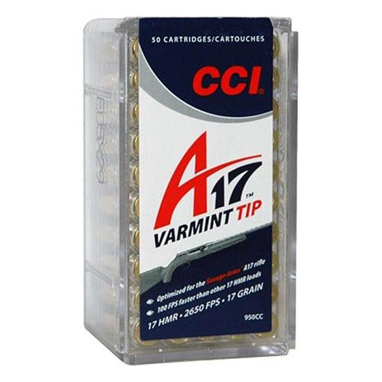 CCI AMMUNITION 17 HMR 17 gr Varmint Tip A17 50/Box