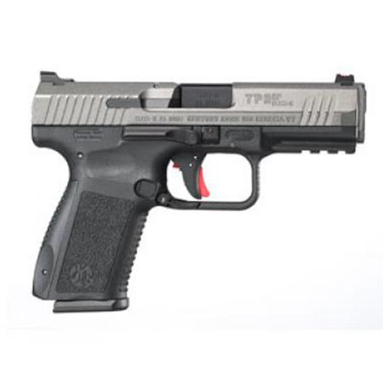 Century HG3899TN TP9SF Elite-S 9mm Luger Single|Double 4.19 15+1 Black Interchangeable Backstrap Grip Gray Cerakote Slide in.