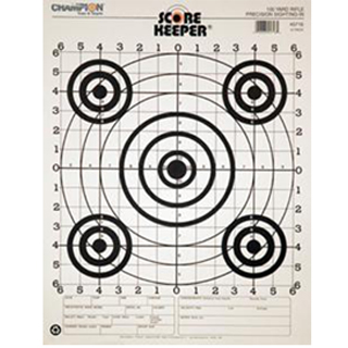 Champion Targets Black100 RIF Sight Target(12pk)