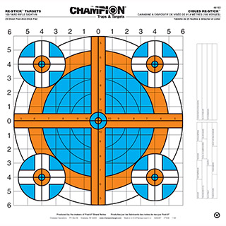 Champion Targets RE-STICK 100YD Rifle SITE IN