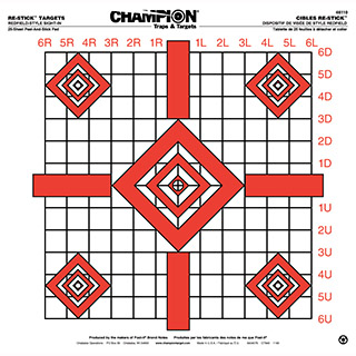 Champion Targets RE-STICK UPDTD Rifle d SITE