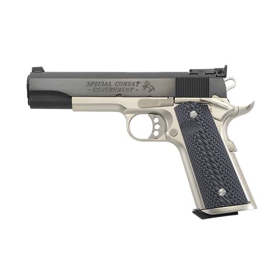 Colt Mfg O1980CM 1911 Special Combat Government Single 45 Automatic Colt Pistol (ACP) 5 8+1 Brown Polymer Grip Blued Carbon Steel in.