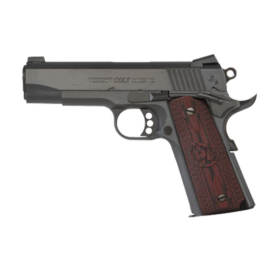 Colt Mfg O4940XE 1911 Single 45 Automatic Colt Pistol 4.25 8+1 Black Cherry G10 Grip Blued Carbon Steel in.