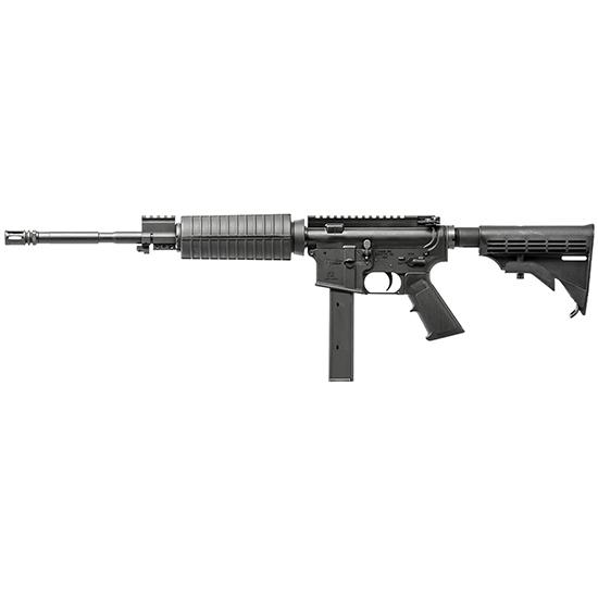 CMMG 90A1A4B Mk9LE OR SA 9mm 16.1 32+1 6-Pos Syn Stk Black in.