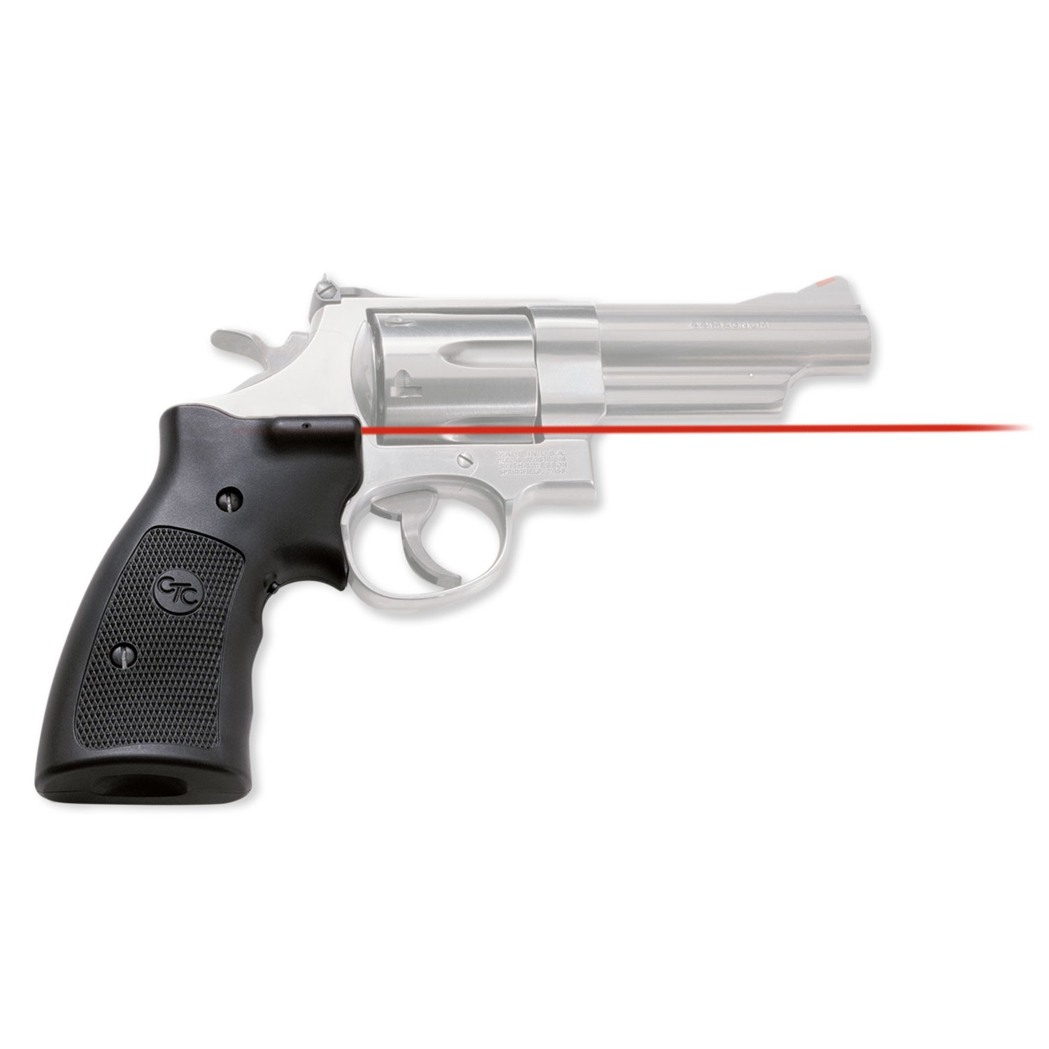 Crimson Trace LG207 Lasergrips S&W K|L|N Frame SB 633nm .5@50ft Blk Poly in.
