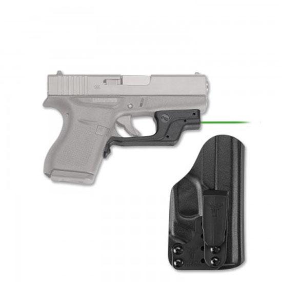 Crimson Trace LG443GHBT Laserguard with Holster Green Laser Glock 42|43 Trigger Guard Black