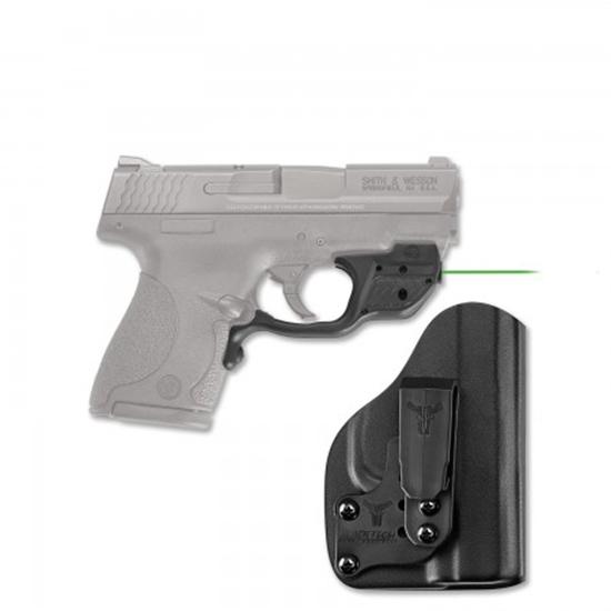 Crimson Trace LG489GHBT Laserguard with Holster Green Laser S&W M&P Shield|M2.0 Trigger Guard Black