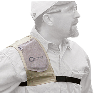 Caldwell 300010 Past Magnum Recoil Shield Ambidextrous Tan Leather|Cloth