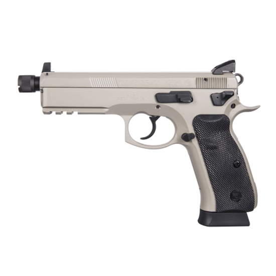 CZ 01253 CZ 75 SP-01 Tactical 9mm Luger Single|Double 5.2 10+1 Black Rubber Grip Gray Slide in.
