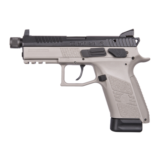 CZ 01288 P-07 Gray Single|Double 9mm 4.5 10+1 Stippled Grip in.