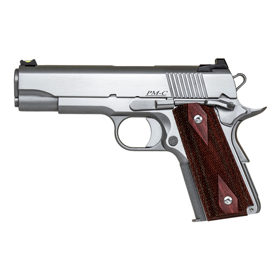 Dan Wesson 01867 1911 Pointman 9mm Luger Single 4.25 8+1 Wood Grip Stainless Steel Slide in.