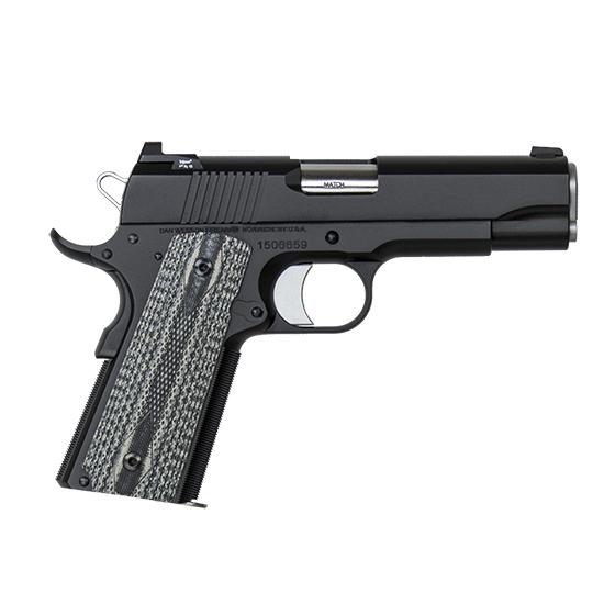 Dan Wesson 01874 1911 Valor Commander 45 Automatic Colt Pistol (ACP) Single 4.25 8+1 Gray G10 Grip Black Slide in.