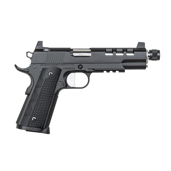 Dan Wesson 01885 1911 Discretion 45 Automatic Colt Pistol (ACP) Single 5.7 8+1 Black G10 Grip Black Stainless Steel Slide in.