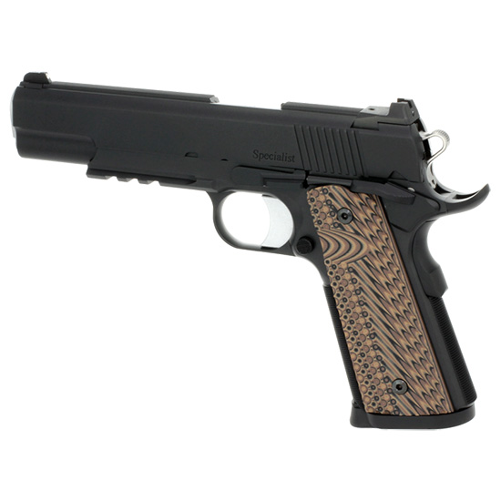 Dan Wesson 01895 1911 Specialist Commander NS 9mm Luger Single 4.25 8+1 Brown VZ Operator II G10 Grip Black Stainless Steel Slide in.