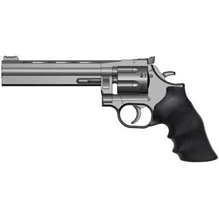 Dan Wesson 01932 715 357 Magnum Single|Double 357 Magnum 6 6 rd Black Rubber Grip Stainless Steel in.