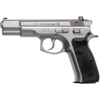 CZ 91128 CZ 75 B Single|Double 9mm 4.6 16+1 Blk Rubber Grip Stainless in.