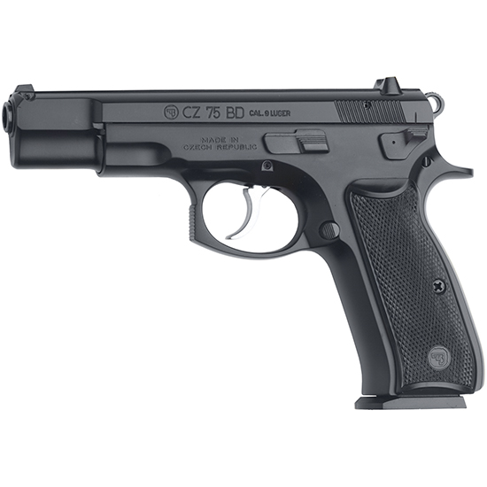 CZ 91130 CZ 75 75 BD Single|Double 9mm Luger 4.6 16+1 Black Polymer Grip Black in.