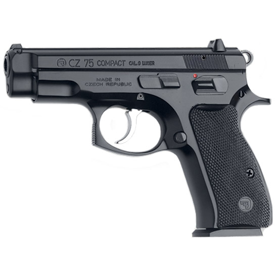CZ 91190 CZ-75 Compact SA|DA 9mm 3.8 14+1 Black Poly Grip Black Finish in.