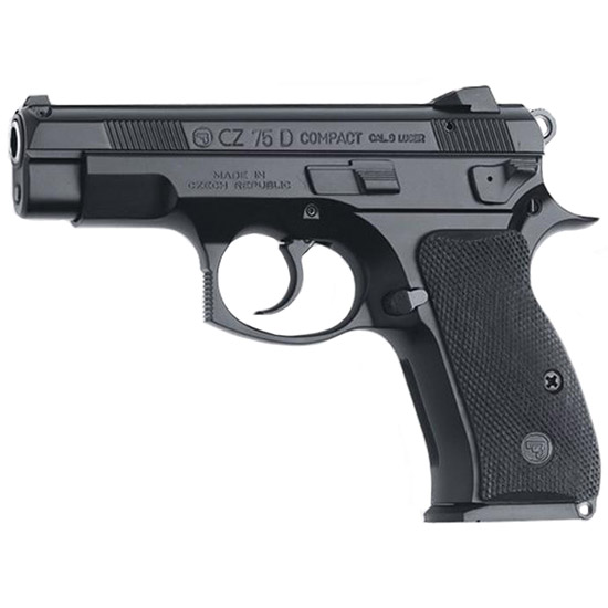 CZ 91194 CZ 75 PCR Compact SA|DA 9mm 3.75 14+1 Black Rubber Grip Black in.