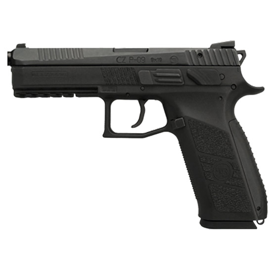 CZ P-09 Black 9MM 5.23-inch 19Rds w| Threaded Barrel