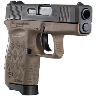 Diamondback DB9FDE DB9 Micro-Compact Double 9mm Luger 3 6+1 Flat Dark Earth Polymer Grip Frame Grip Black in.