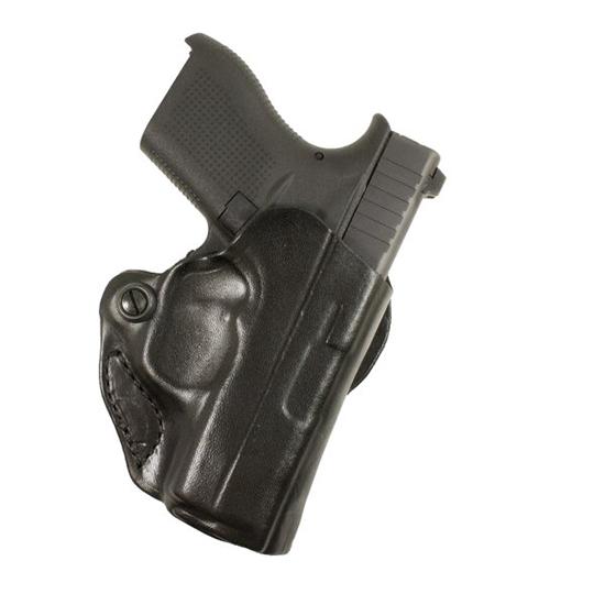 Desantis Gunhide 019BA5EZ0 Mini Scabbard S&W Shield 45 4 Barrel Leather Black in.