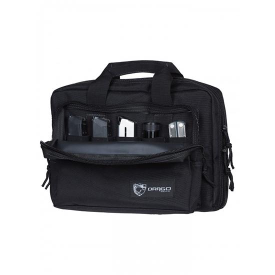 Drago Gear 12315BL Double Pistol Case 600D Polyester 12.5 x 9.5 in.  x 4.5 in.  Black in.