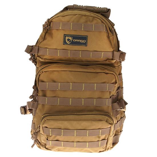 Drago Gear 14302TN Assault Backpack 600D Polyester 20 x 15 in.  x 13 in.  Tan in.