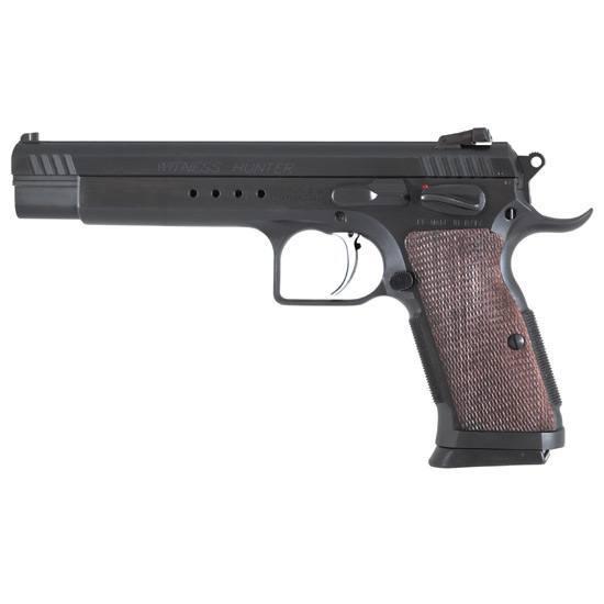 EAA 600252 Witness Hunter SA 10mm 6 14+1 Wood Grip Blued in.
