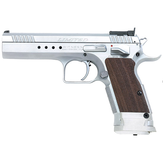 EAA Corp Tanfoglio Witness Elite Limited Chrome 9mm 4.75-inch 17Rds Adjustable Sights