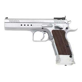 EAA 600340 Witness Elite Limited 45 ACP 4.75 10+1 Wood Grip Chrome Finish in.