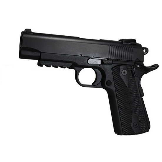 EAA 600349 Witness Elite 1911 Single 45 Automatic Colt Pistol (ACP) 4 8+1 Black Polymer Grip Black in.