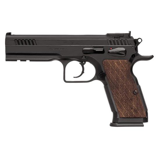 EAA 600580 Witness Elite Stock 3 Single Double 10mm 4.75 14+1 Walnut Grip Blued in.