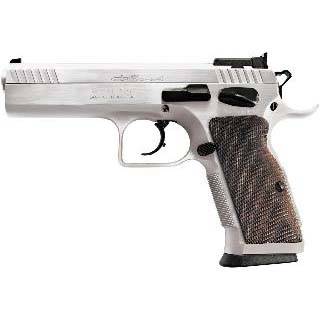EAA 600605 Witness Elite Stock 2 Single|Double 9mm Luger 4.5 17+1 Walnut Grip Chromed in.