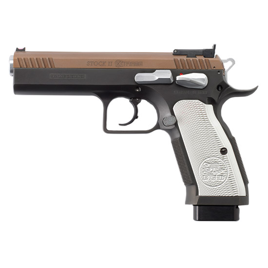 EAA 610605 Witness Xtreme Double 9mm 4.5 17+1 Aluminum Grip Bronze in.