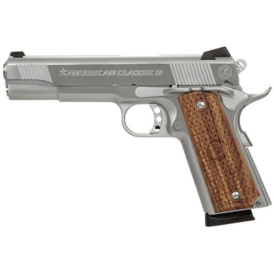 American Classic AC9G2C 1911 Single 9mm 5 8+1 Hardwood w MAC Logo Grip Black in.