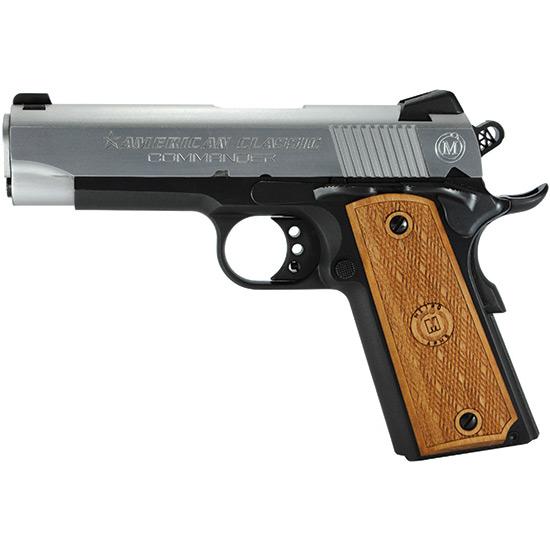 American Classic ACC45DT 1911 Commander Single 45 Automatic Colt Pistol (ACP) 4.25 8+1 Hardwood Grip Hard Chrome in.