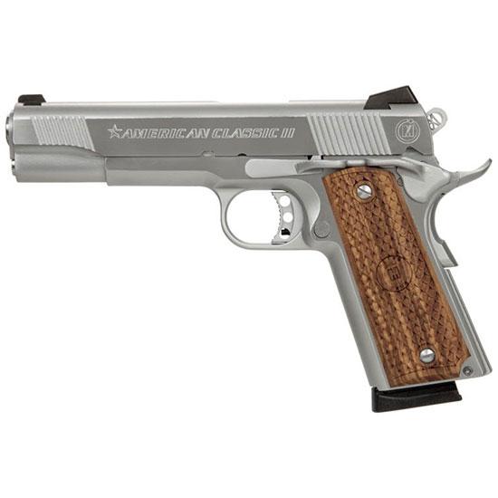 American Classic ACC9C 1911 Classic Commander SA 9mm Luger  4.25 9+1 Hardwood w MAC Logo Grip Hard Chrome in.