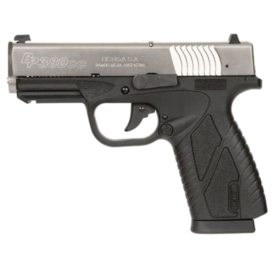 Bersa BP380DTCC BPCC Concealed Carry Double 380 Automatic Colt Pistol (ACP) 3.3 8+1 Black Polymer Grip Nickel in.